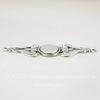 Винтажная основа для браслета (филигрань) 59х22 мм (оксид серебра)