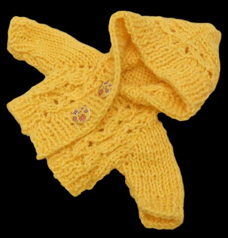 Кофта с капюшоном - Желтый. Одежда для кукол, пупсов и мягких игрушек.