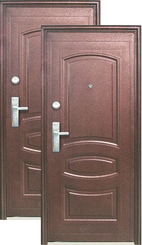 Дверь входная Большие двери D501, 1 замок, 0,8 мм  металл,