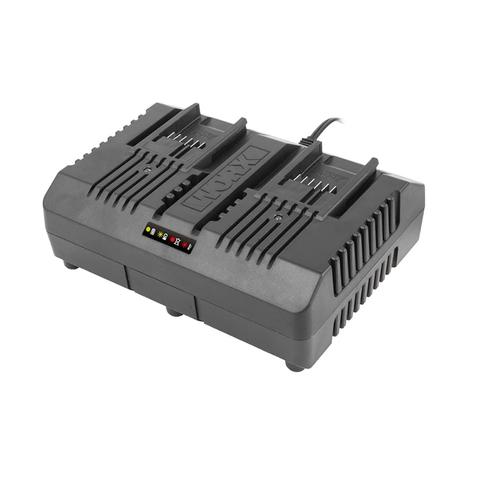 Двойное зарядное устройство WORX WA3883, 20В, 2*2A