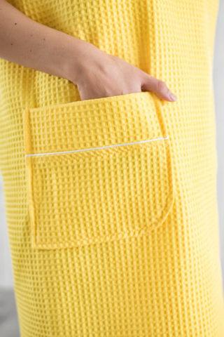 Парео Вафельное Женское  (Лимон)