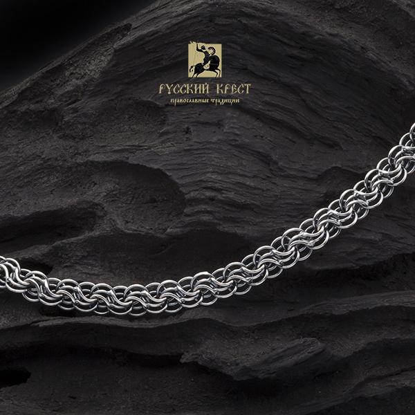 Цепочка мужская серебро. Плетение Сармат