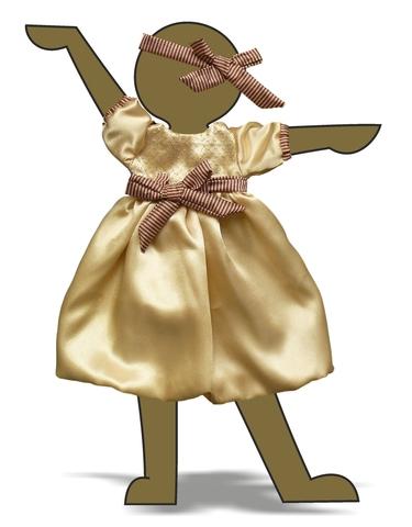 Платье шелковое - Демонстрационный образец. Одежда для кукол, пупсов и мягких игрушек.