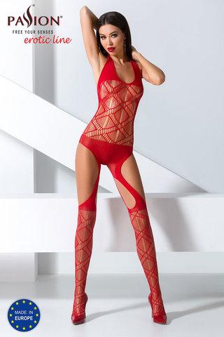 Эротический бодистокинг сетка красный