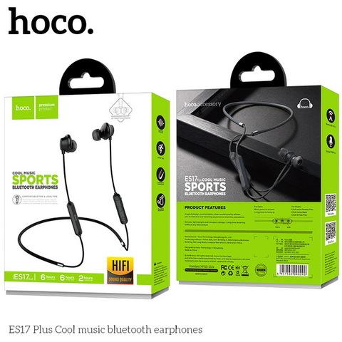 Наушники вакуумные Bluetooth HOCO ES17 Plus Cool music, black (с ободом)