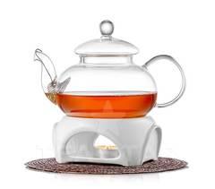 """Заварочный чайник """"Смородина""""  600 мл с подставкой-подогревом от свечи"""