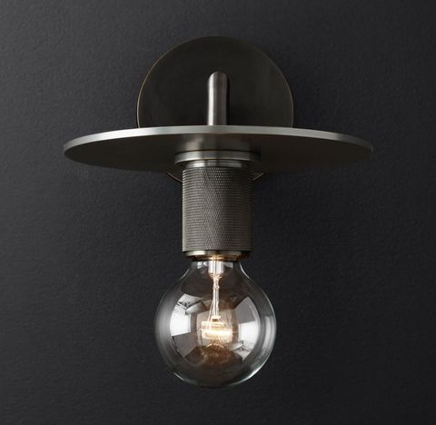 Utilitaire Knurled Disk Shade Sconce
