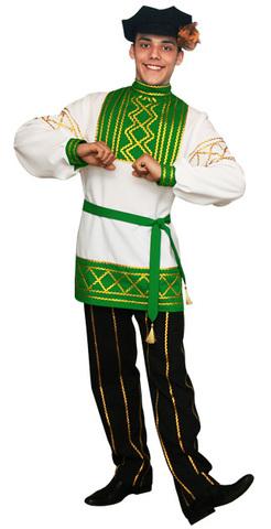 Русский народный костюм Олег зелёный