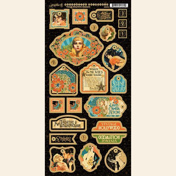 Чипборд Vintage Hollywood Decorative, Graphic 45