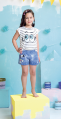 Детские женские шорты пижамные E18K-34D101