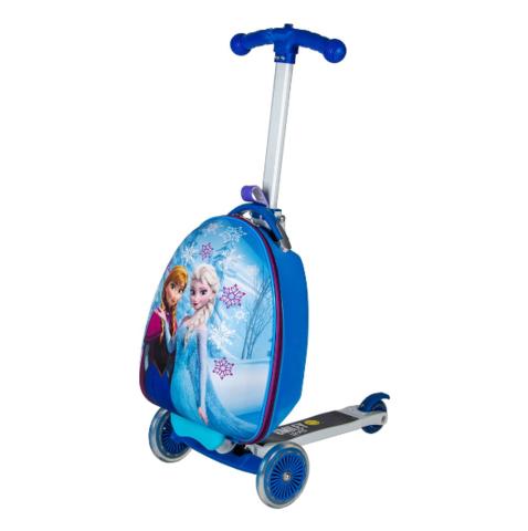 Чемокатик детский чемодан самокат Эльза