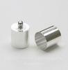 Концевик для шнура 9,5 мм, 14х10 мм (цвет - серебро)
