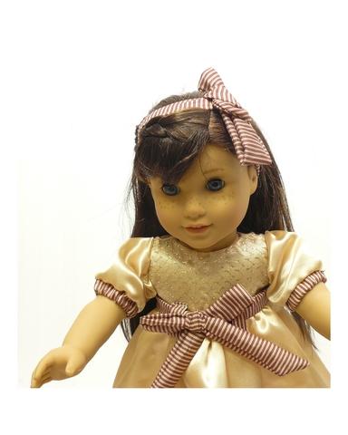 Платье шелковое - На кукле. Одежда для кукол, пупсов и мягких игрушек.