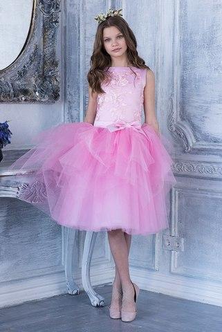 Пышное розовое платье (арт.304 роз)