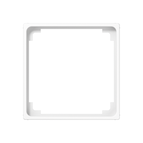 Рамка на 1 пост, промежуточная, для изделий 50х50mm. Цвет Белый. JUNG AS. A590ZWW