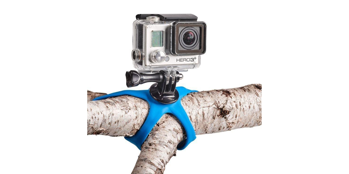 Штатив для экшн-камер Miggo Splat пример крепления на дереве