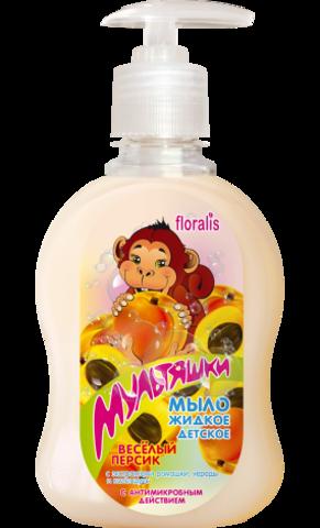 Floralis Мультяшки Мыло жидкое детское «Веселый персик» 330г