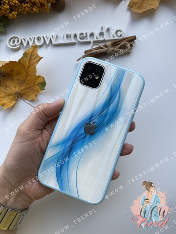 Чехол iPhone 11 Pro Max Polaris smoke Case Logo /blue/