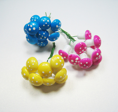 Декор Мухоморы цветные 2 см. 10 шт.
