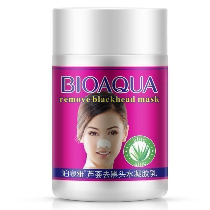 Bioaqua Remove Blackhead mask Маска от черных точек с алоэ, 22 гр