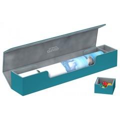 Ultimate Guard - Серо-голубая кожаная коробочка для игрового коврика