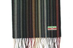 Шерстяной шарф, мужской полосатый темный 30701