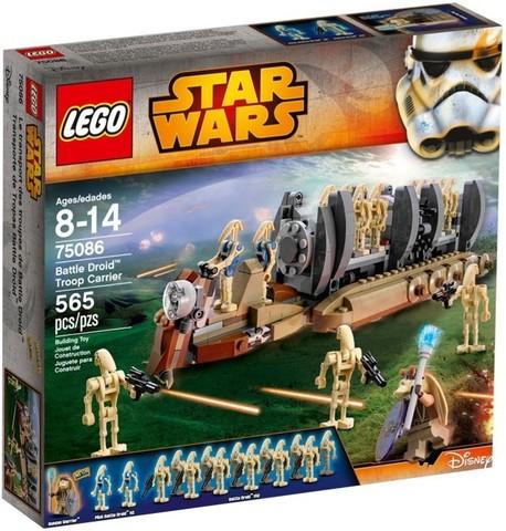 LEGO Star Wars: Перевозчик боевых дроидов 75086 — Battle Droid Troop Carrier — Лего Звездные войны Стар Ворз