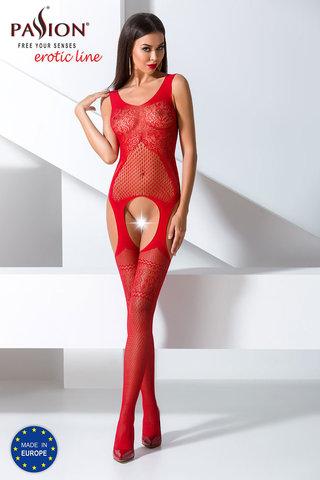 Красный бодистокинг сетка эротический с рисунком