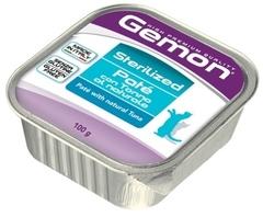 Gemon Sterilized Cat консервы для стерилизованных кошек паштет тунец 100гр