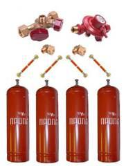 Газобаллонная система GOK (эконом) для подключения 4 металлических баллонов