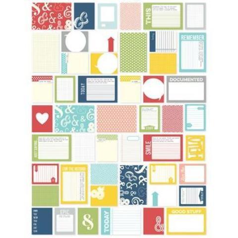 Набор карточек для Project Life -Sn@p! Double-Sided Card Pack 152шт- 2015
