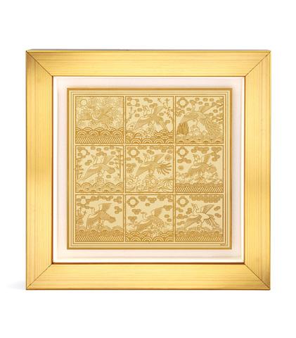 Табличка 9 золотых журавлей