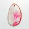Подвеска Агат Крэкл (тониров) (цвет - бело-розовый) 51х32х5,6 мм №16