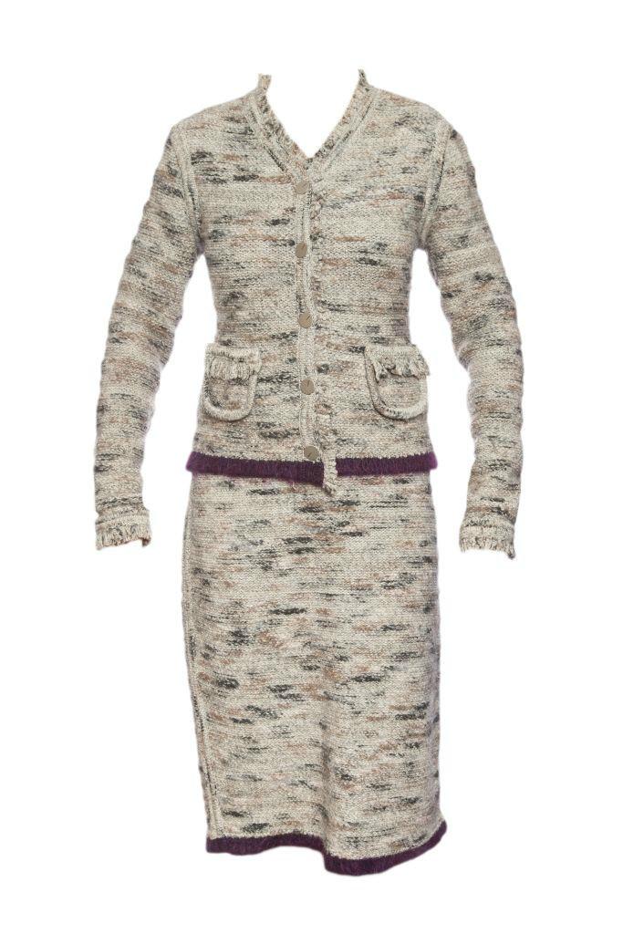 Трикотажный костюм от Chanel, размер 38-42