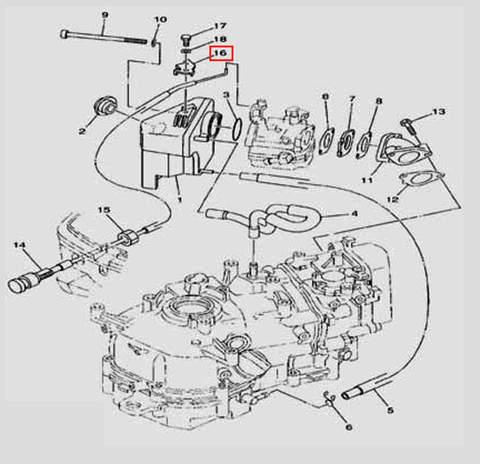Стопор для лодочного мотора F5 Sea-PRO(6-16)