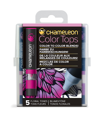 Набор цветовых блендеров Chameleon Color Tones Floral Tones, цветочные тона, 5 шт.