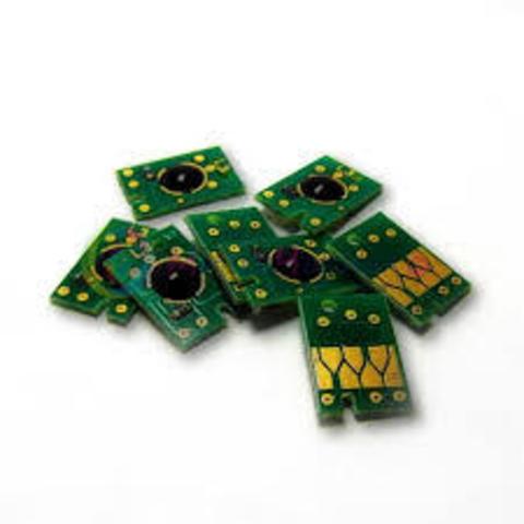 Чипы для перезаправляемых картриджей (ПЗК/ДЗК) плоттеров Epson Stylus Pro 7600, 9600, 4000 (комплект 7 штук)
