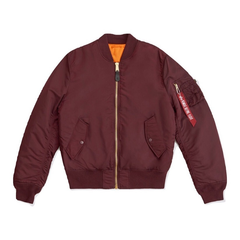 Куртка бомбер Alpha Industries Slim Fit MA-1 Maroon
