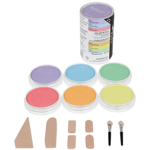 Набор ультрамягкой пастели PanPastel Ultra Soft Artist Pastel Set 9ml - 6 шт.  Pearlescent