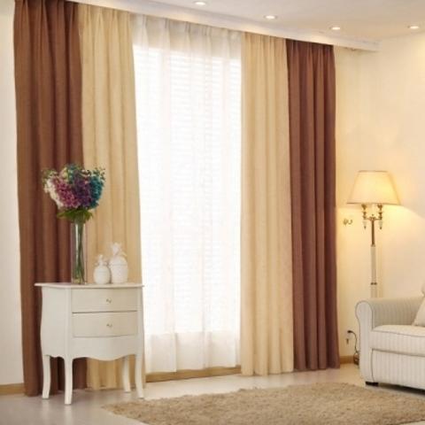 Комплект штор  Элегия  коричневый