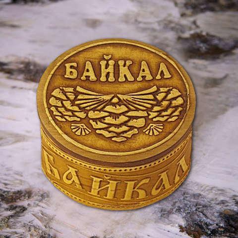 Шкатулка Байкальская шишка на бересте