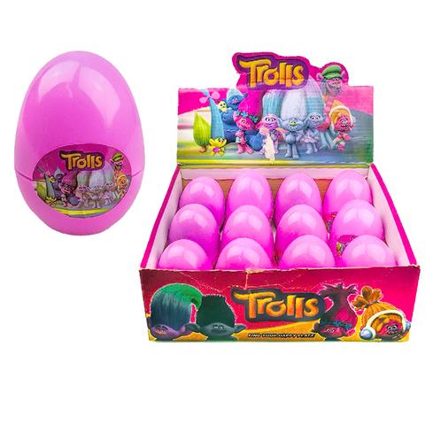 Тролли пластиковое яйцо 1кор*1бл*12шт