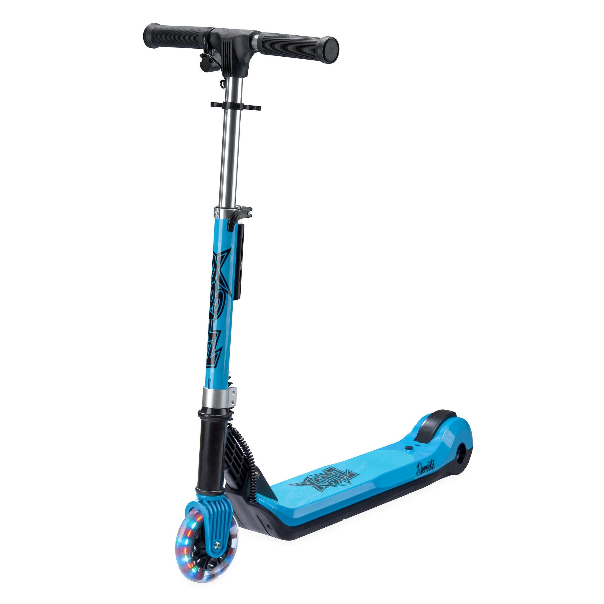 Электросамокат Xootz Kids Elements, светящиеся колеса, синий