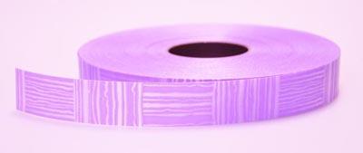 Лента пластиковая с рисунком 2см*100м фиолетовая