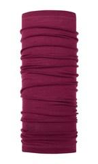 Тонкий шерстяной шарф-труба Buff Wool lightweight Solid Purple Raspberry