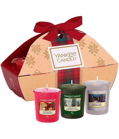 Подарочный набор 3 вотива в сундучке Рождество в Альпах, Yankee Candle