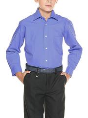 873-4 рубашка для мальчиков, синяя