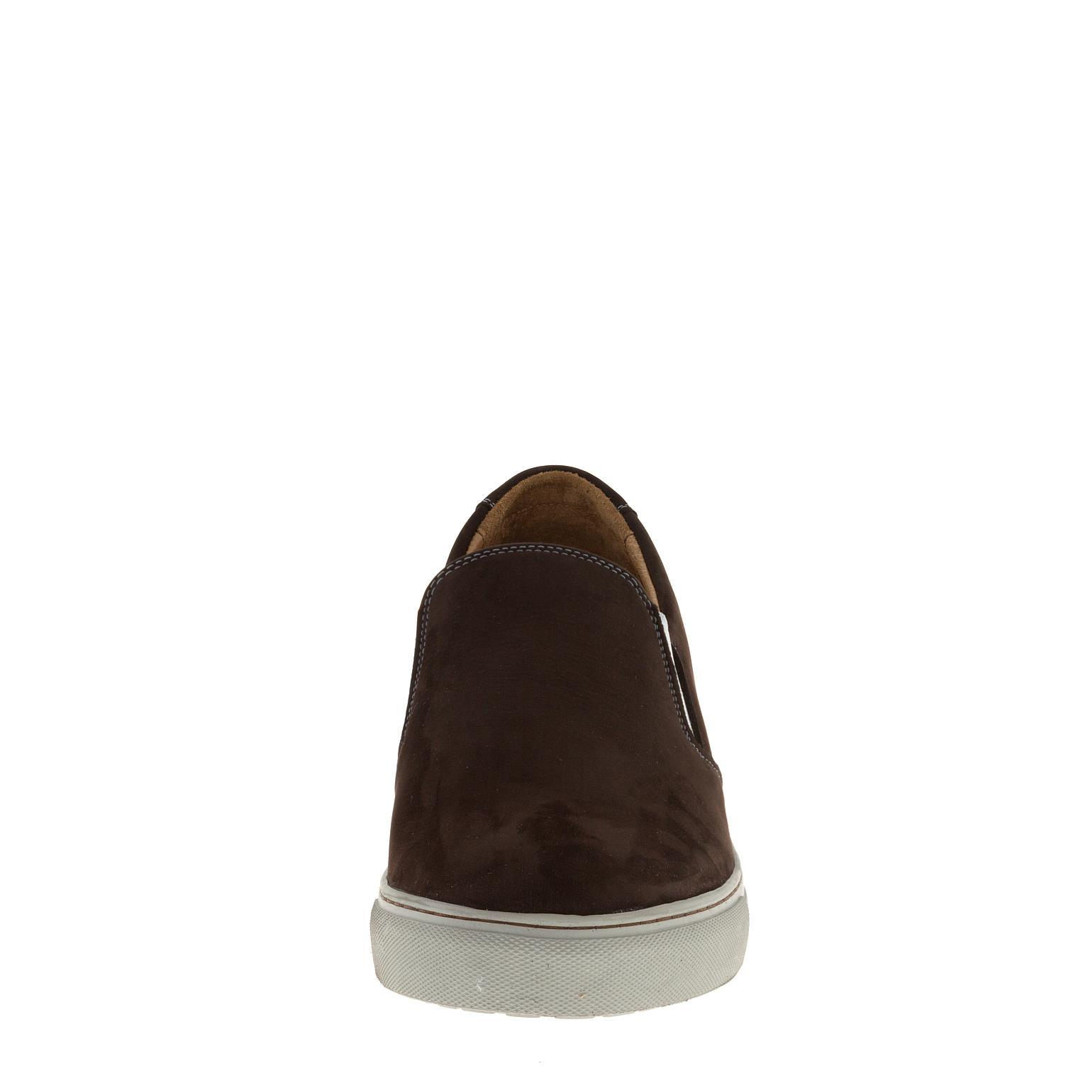 546308 полуботинки мужские коричневые (слипоны) больших размеров марки Делфино