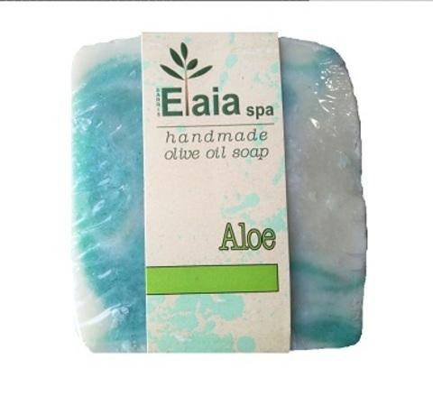 Греческое мыло ручной работы Алоэ Elaia spa 100 гр.