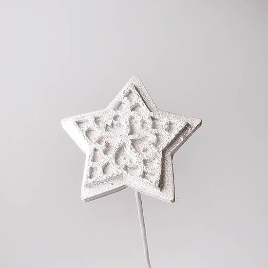 Стикер звезда серебро 1 шт., 1030